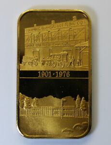 *RARE* Coca-Cola Columbus, GA ,PLAIN EDGE,  Mintage:70, Gold Plated Bronze Bar
