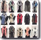 Scarf Lady Vintage Women Long Soft Voile Print Scarves Shawl Wrap Pashmina Stole