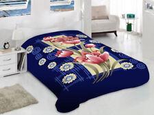 Korean Blanket Mink Heavy 10Lbs Queen & King Size Thick Warm Plush Soft Blue