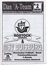 Progr.FC Hansa Rostock (A)-MSV Duisburg DFB-Pokal 1.Runde 28.08.1998