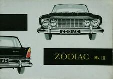 Ford Zodiac Mk III illustrated Sales Brochure- 1962