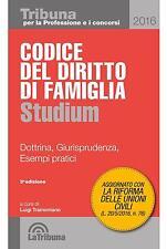 Codice del Diritto di Famiglia Studium Dottrina Esempi Tribuna 2016 Tramontano