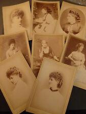 8 x VICTORIAN CABINET CARD OF LADIES, by Alex Bassano