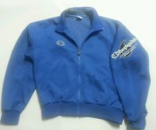 CHAMPION USA BLUE GOLD STITCH TRACK SWEAT JACKET VINTAGE COOL OLD SKOOL MENS L