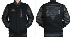 Nike Air NSW Heritage Destroyer Jacket men's sz XL Black Leather/Wool New