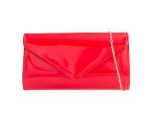 Ladies Patent Clutch Bag Bridal Formal Party Shoulder Handbag