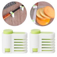 2Pcs 5 Layers Adjustable DIY Cake Slicer Bread Leveller Cutter Fixator Guide