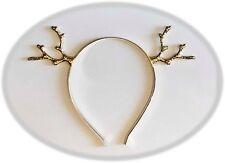 Christmas Party Supplies - Christmas Gold Metal Reindeer Antler Headband
