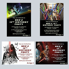 Personalised Star Wars Birthday Party Invitations, Invites, boys, Many Design