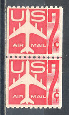 US Stamp (L2052) Scott# C61, Mint NH OG, Nice Coil Line Pair, Air Mail