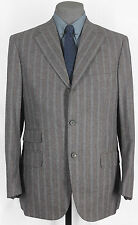 UNIQUE FABRIC & COLOR NWT ISAIA HAND_MADE SUPER 130s GRAY PIN SUIT 40-41 13002