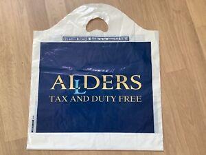 Vintage Retro Allders Duty Free Plastic Carrier bag Rothmans King Size advert