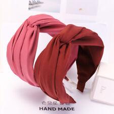 Korean Girl Fabric Twist Wide Head Wrap Headband Twisted Knot Hair Band Hoop