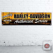 1200 x 305mm HARLEY DAVIDSON workshop garage banner