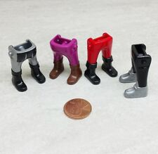 Playmobil 4 Different Replacement Legs Pants, 2 are Chubby
