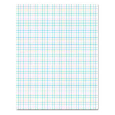Ampad Quadrille Pads 4 Squares/Inch 8 1/2 x 11 White 50 Sheets 22030C