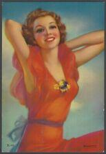 "1920s Glamour Girl art deco print on card 4"" x 6"""