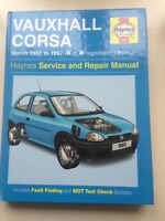 VAUXHALL CORSA 1993-1997 All Models Petrol HAYNES MANUAL