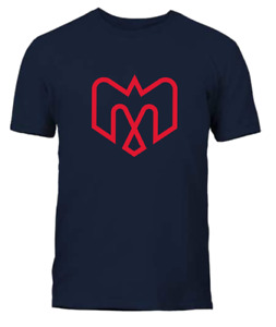 Men's Montreal Alouettes Navy Blue Primary Logo CFL Football 100% Cotton T Shirt