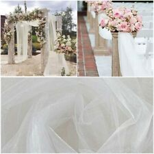 Wedding Aisle Decoration Tulle Organza Fabric Roll Party Supplies Decor Event