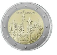 """2 Euro 2020 Litauen """"Hügel der Kreuze"""" bankfrisch"""