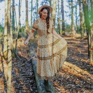 FREE PEOPLE Rare Feelings Maxi Dress, Natural, L