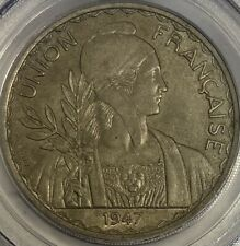 French Indo China 1947 Piastre PCGS MS62