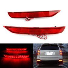 RED Lens LED Rear Bumper Reflector DRL Brake Light For SubaruForester2008-2017