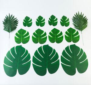 Artificial Tropical Hawaii Palm Leaves Silk Jungle Foliage Table Home Decor UK