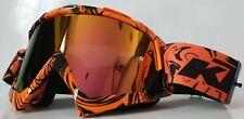 Masque Moto Cross KTM orange / Lunette ATV Anti UV Iridium