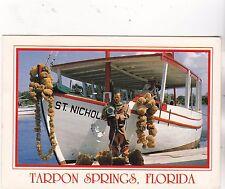 """*Florida Postcard-""""Fishing...@ Tarpon Springs, Fl. (#389)"""