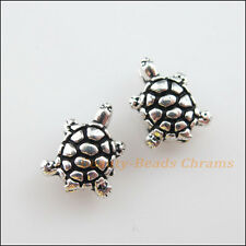 25Pcs Tibetan Silver Tone Lovely Tiny Tortoise Spacer Beads Charms 8x10mm