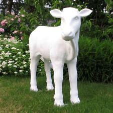 KALB LIESEL von der Alm 86 cm ROHLING weiß KUH KÄLBCHEN Deko Tier Figur GLATT