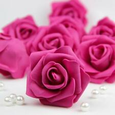 20 Foam Heads Artificial Roses Flowers Party Wedding Home Floral Decor Rose Red