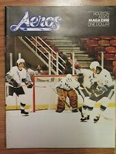 HOUSTON AEROS vs DENVER SPURS 1975-76 WHA Program GORDIE HOWE JEAN GUY TALBOT