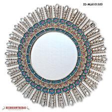"""Hand-crafted Sunburst Round Mirror 30"""" from Peru - Peruvian Wall Mirror Decor"""