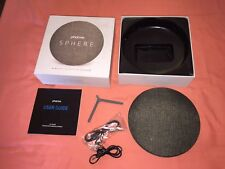 Photiv Sphere Grey Canvas Wireless Bluetooth Speaker With Aux Wired Connection