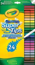 Crayola Supertips 24 Washable Felt Tip Pens Markers - Pack of 24 - FREE P&P UK