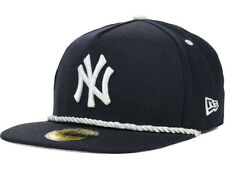 New York Yankees MLB Hall A Frame New Era Rope Flatbill Navy Gray Hat Cap 7 1/2