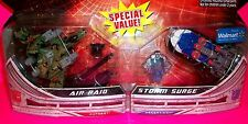 2009 TRANSFORMERS 2 Pack STORM SURGE & AIR RAID Hovercraft Jet CYBERTRON SERIES