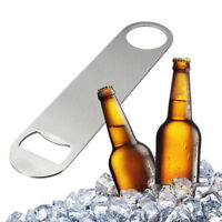 Fashion Stainless Steel Large Flat Speed Bottle Cap Opener Remover Bar Blade