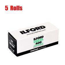 5 Rolls Ilford Delta 400 120 Black&White Print Film Fresh 2022