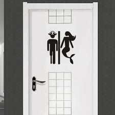 Man or Mermaid Toilet Wall Sticker Bathroom Vinyl Decal Home Decor Vinyl Mural