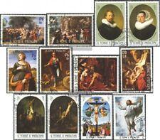 Sao Tome e príncipe 815-826 (edición completa) usado 1983 pinturas: semana santa