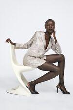 Zara AW18 Woman Sequin Blazer Dress Champagne Size M NWT