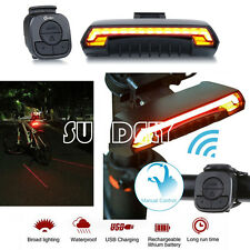 NEW Bicycle Bike Rear Tail Laser LED Indicator Turn Signal Light Wireless Remote