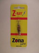 Z-Ray 1/16oz Messing mit weißen Flecken Fishing Lure