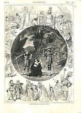 Paris Théâtre de la Gaîté-Montparnasse Geneviève de Brabant texte  GRAVURE 1875