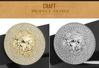 WOMENS DESIGNER LEATHER BELTS FOR WOMEN LADIES GIRLS BELT LION H 7 DIAMONDS NEW