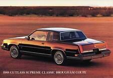 Old Print.  1988 Oldsmobile Cutlass Supreme Classic Brougham Coupe Auto Ad
